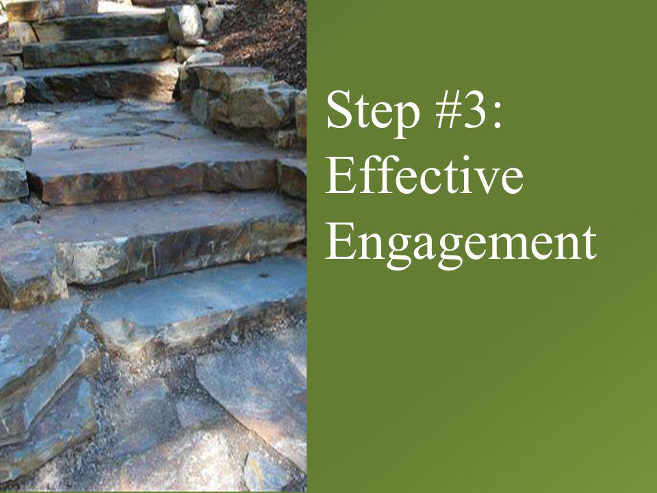 Step #3: Effective Engagement