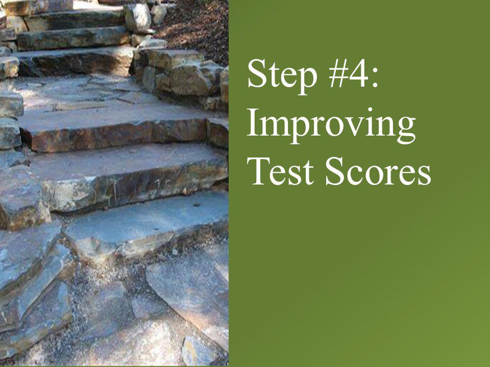 Step #4: Improving Test Scores