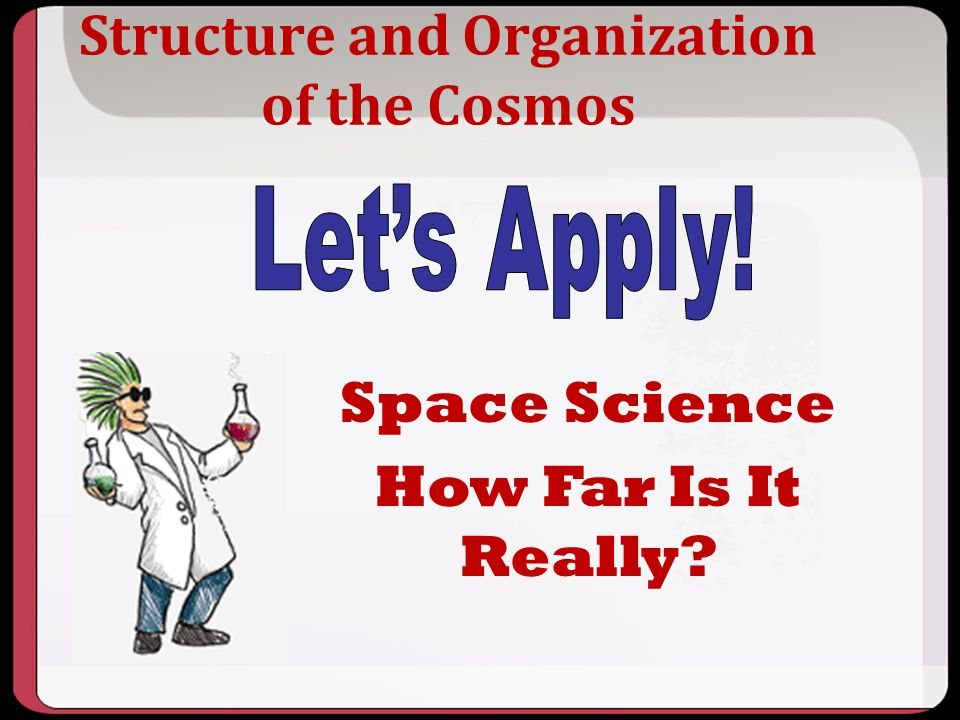 Structure and Organization of the Cosmos