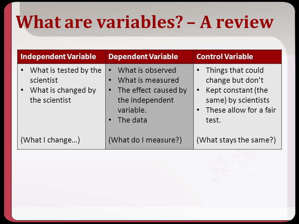What are variables – A review