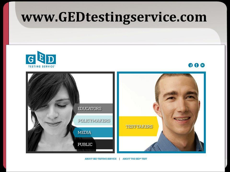 www.GEDtestingservice.com Key Points