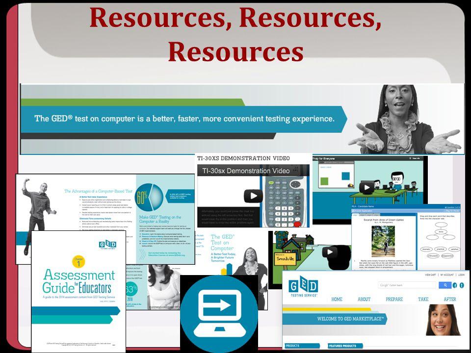 Resources, Resources, Resources