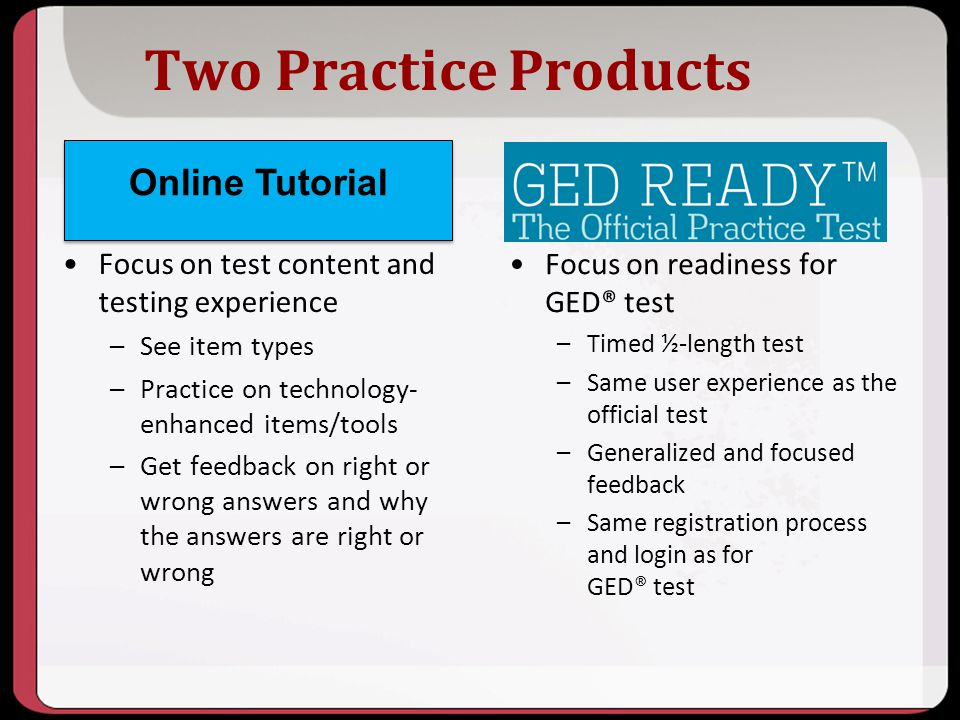 Two Practice Products Online Tutorial