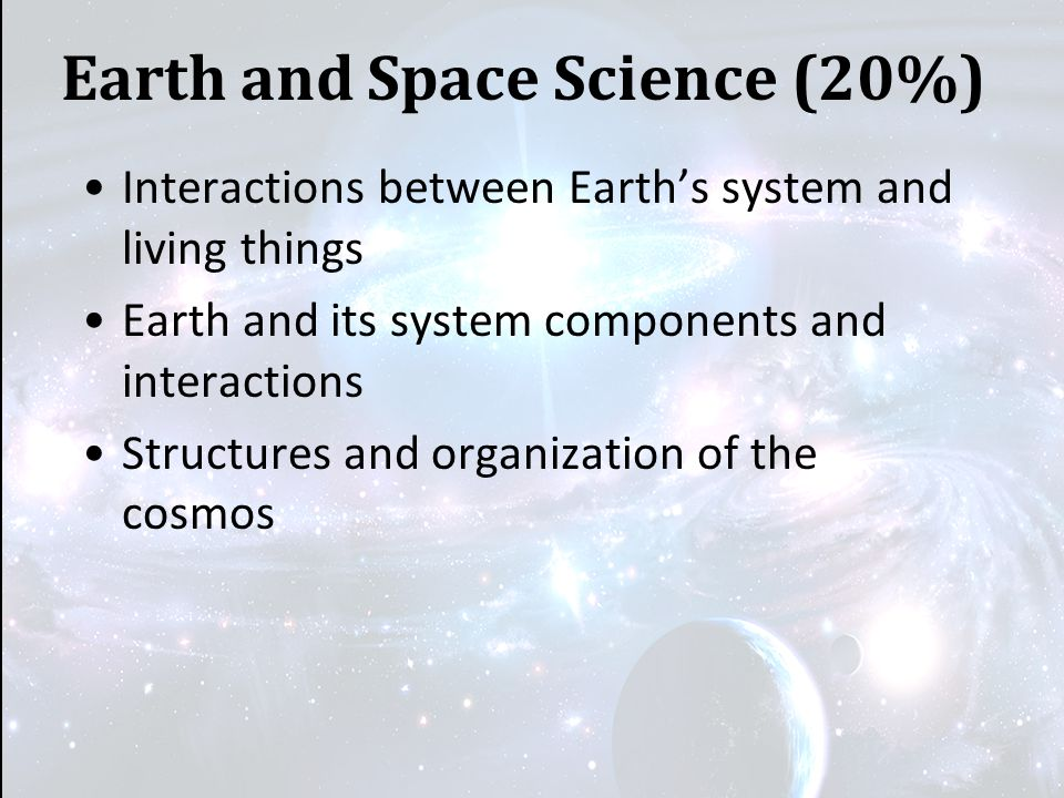 Earth and Space Science (20%)