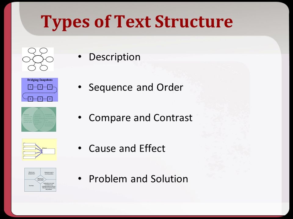 Types of Text Structure