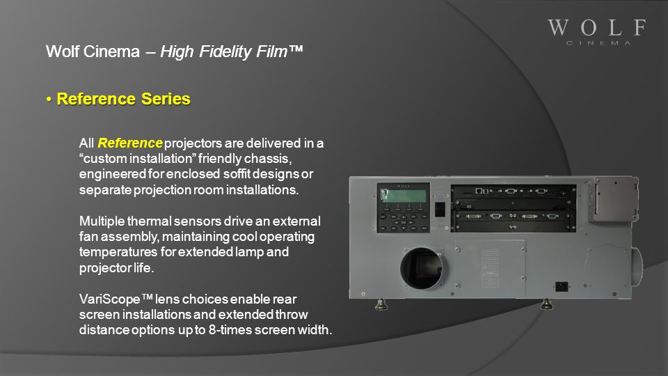 Wolf Cinema – High Fidelity Film™ Reference Series
