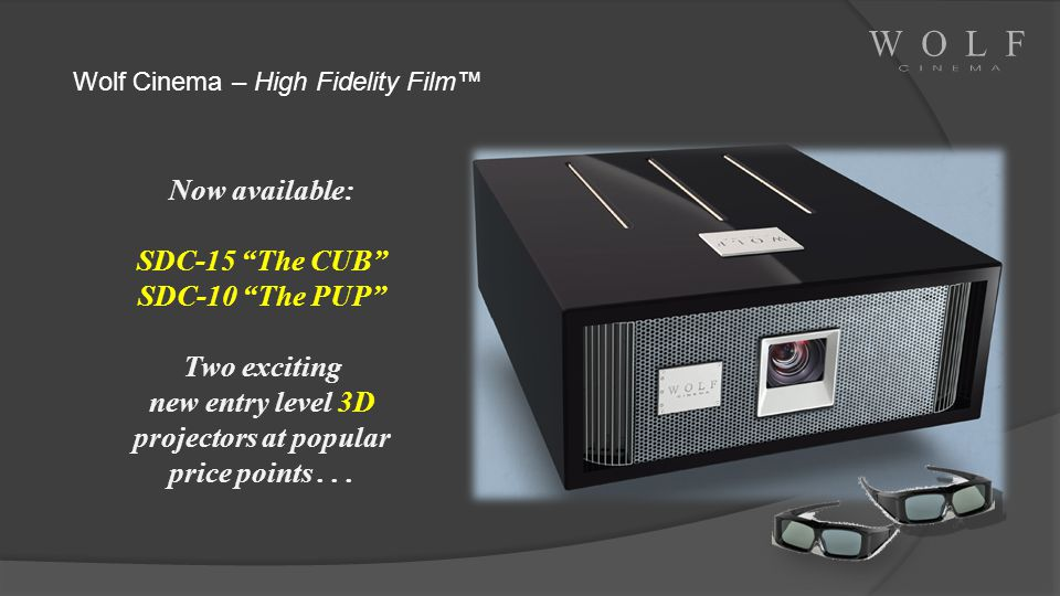 new entry level 3D projectors at popular price points . . .