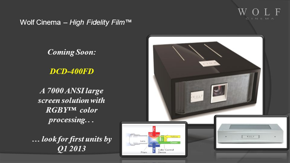 A 7000 ANSI large screen solution with RGBY™ color processing. . .