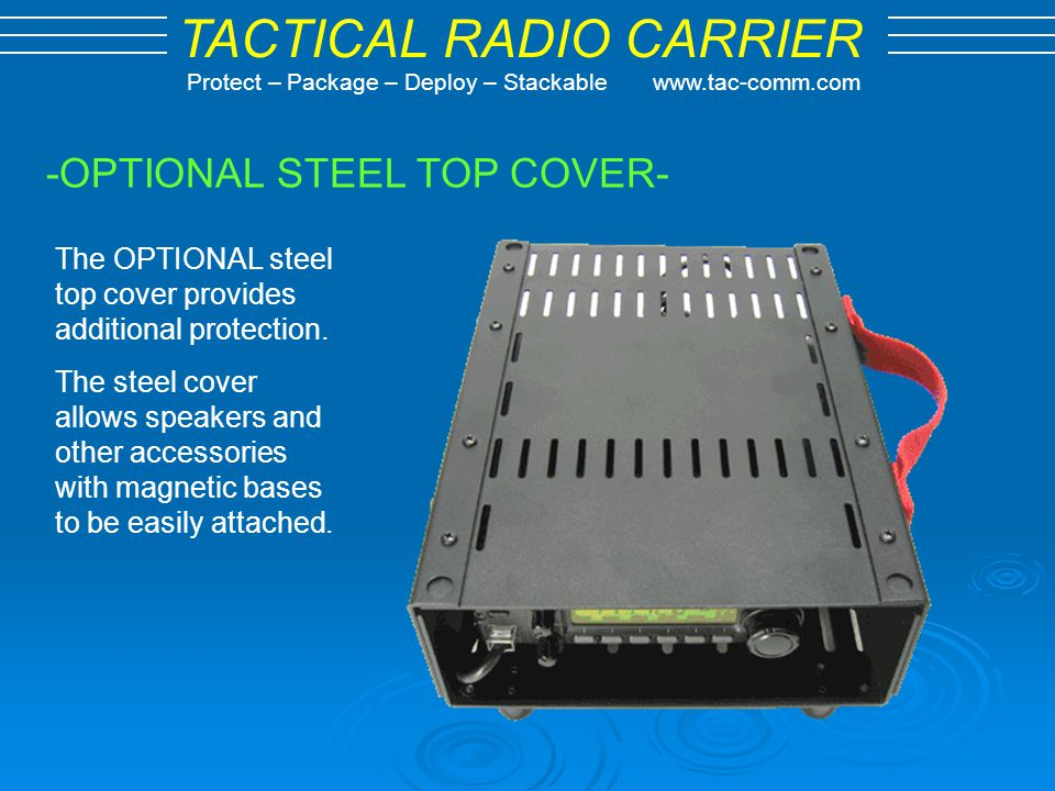 -OPTIONAL STEEL TOP COVER-