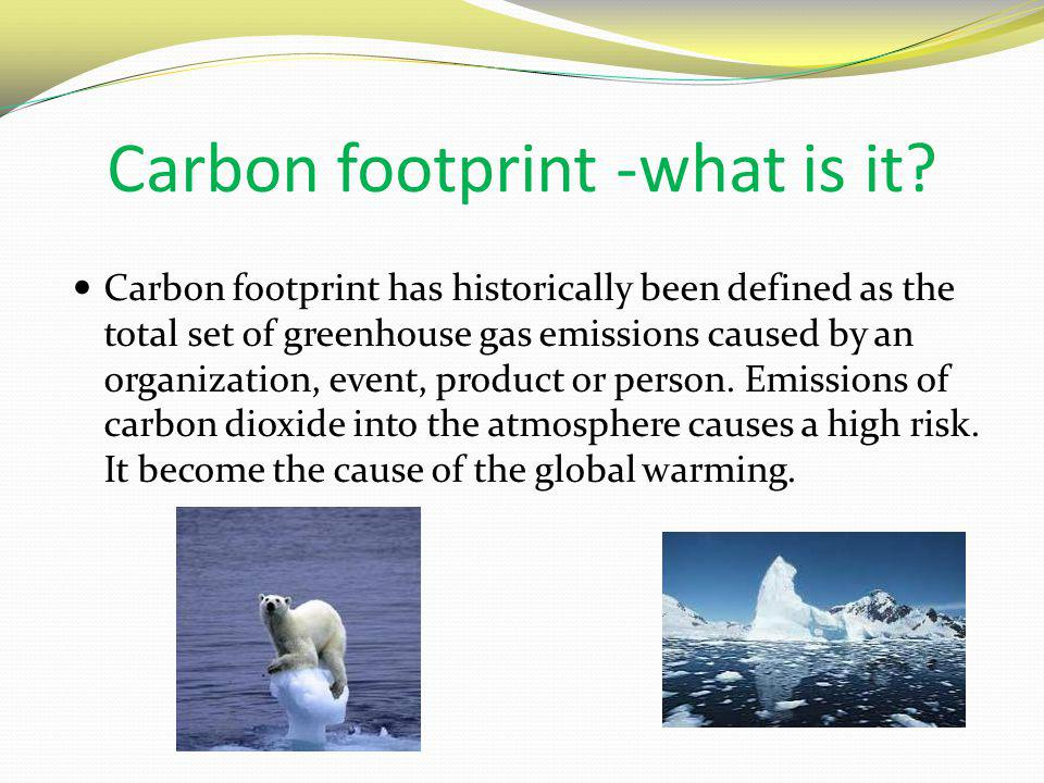 Carbon footprint -what is it