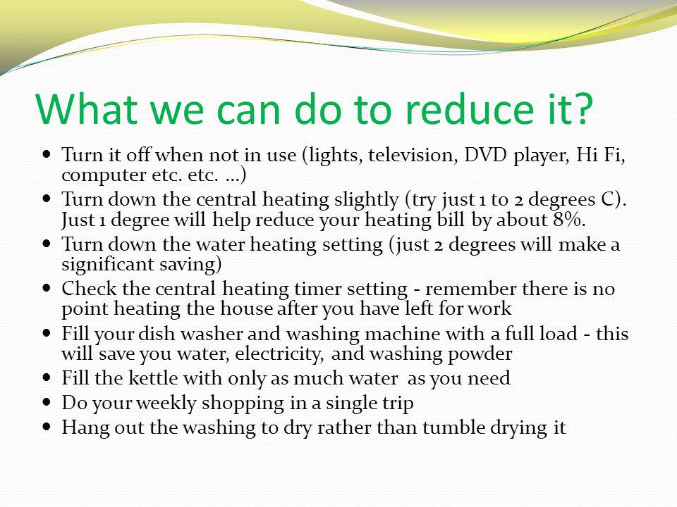 What we can do to reduce it