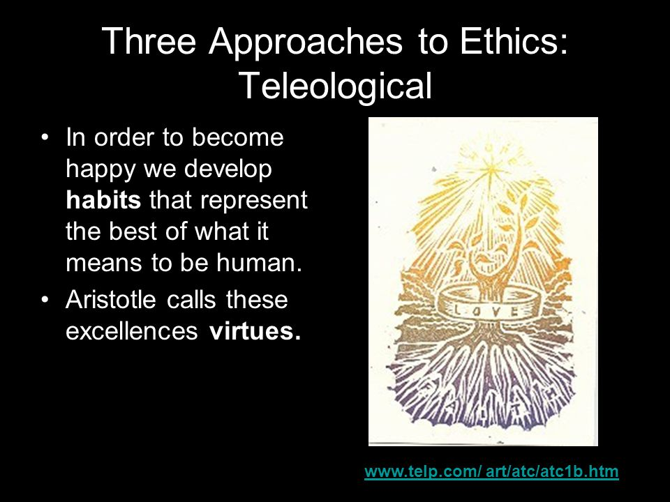 Three Approaches to Ethics: Teleological