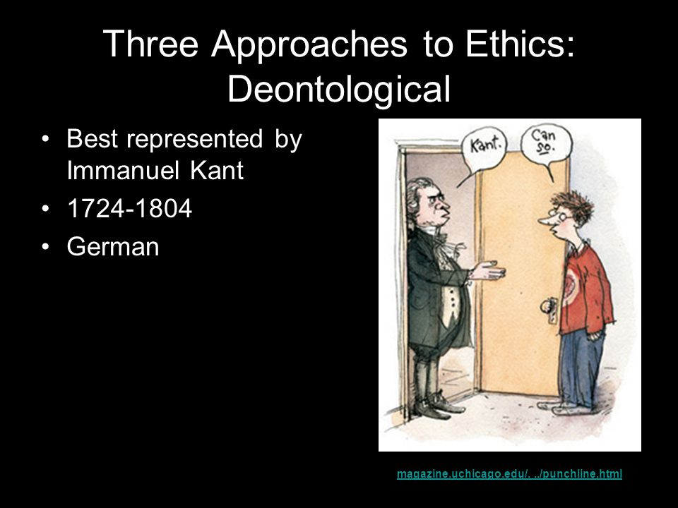 Three Approaches to Ethics: Deontological
