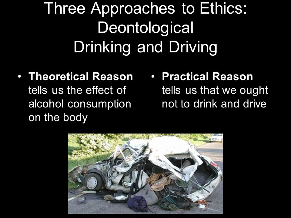 Three Approaches to Ethics: Deontological Drinking and Driving