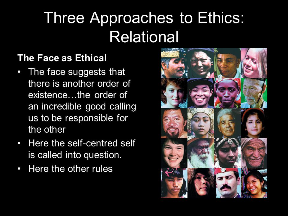 Three Approaches to Ethics: Relational