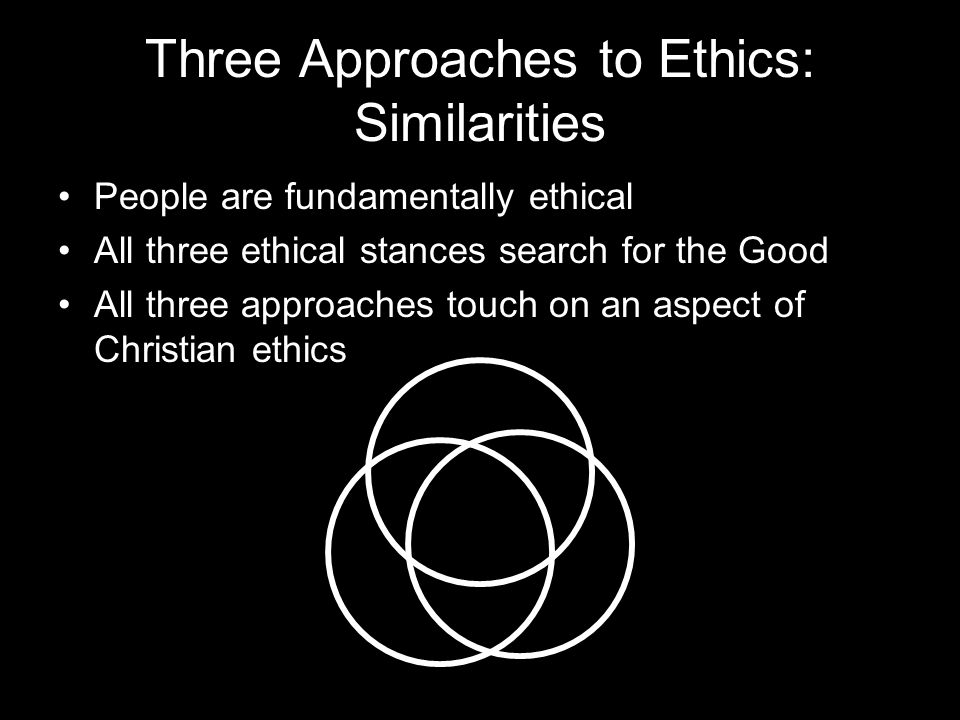 Three Approaches to Ethics: Similarities