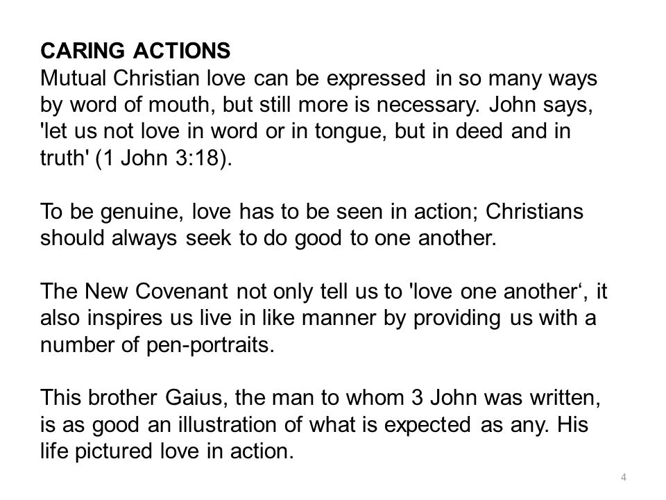 CARING ACTIONS