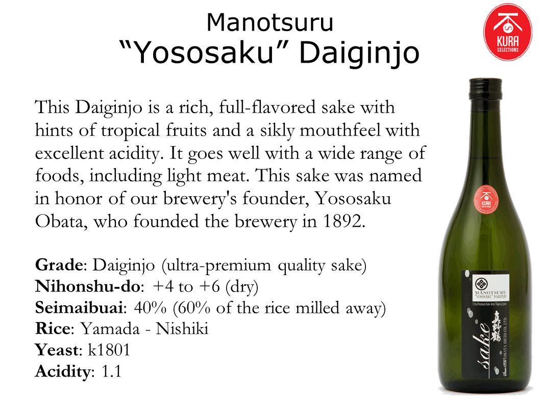 Manotsuru Yososaku Daiginjo