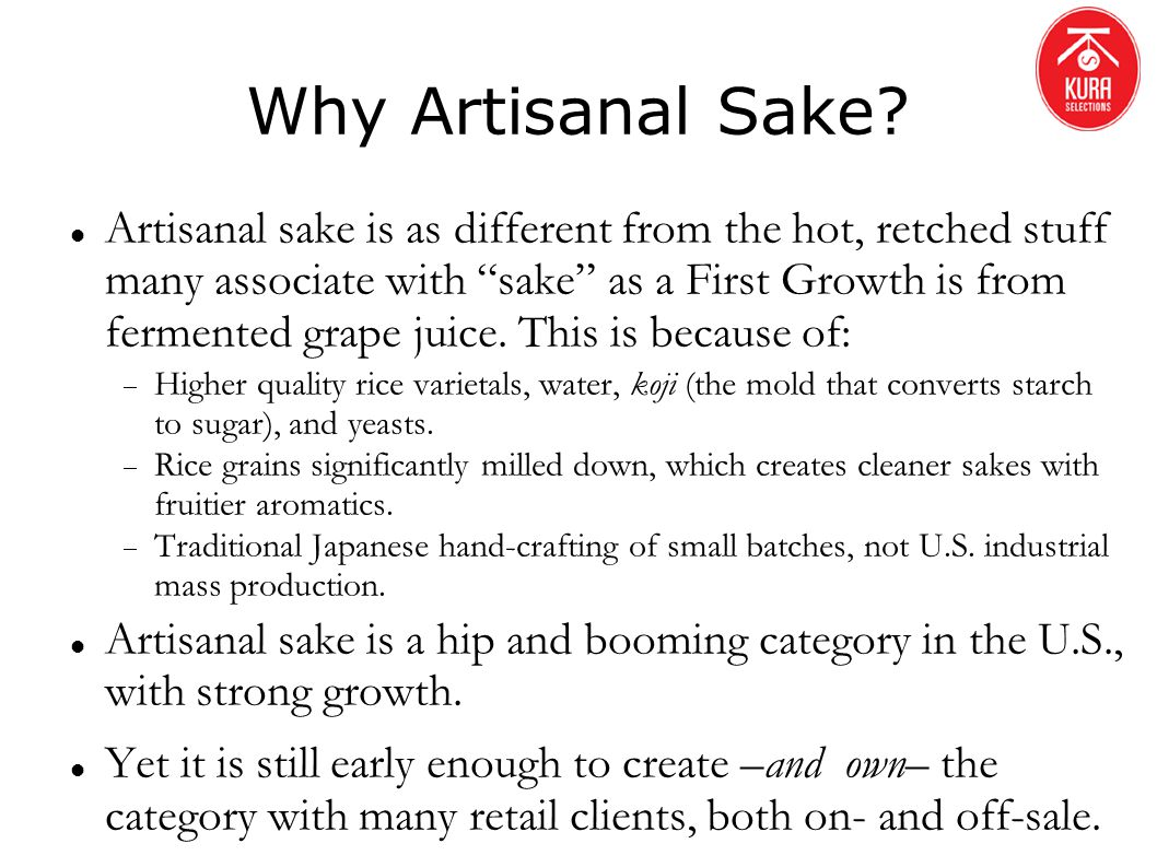 Why Artisanal Sake