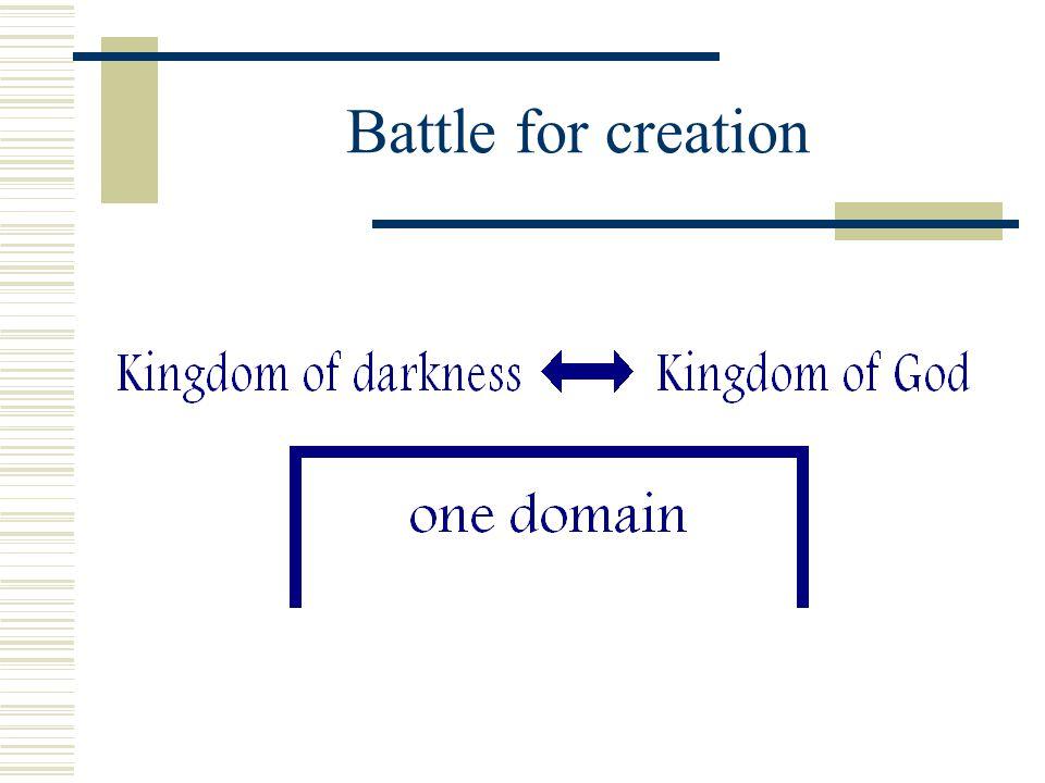 Battle for creation