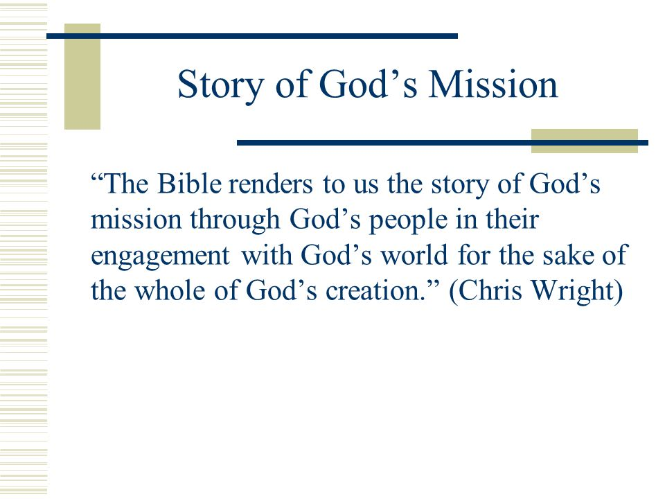 Story of God's Mission