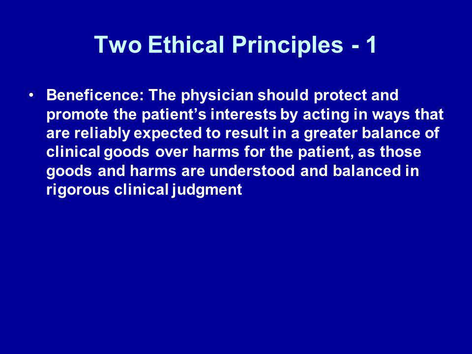 Two Ethical Principles - 1
