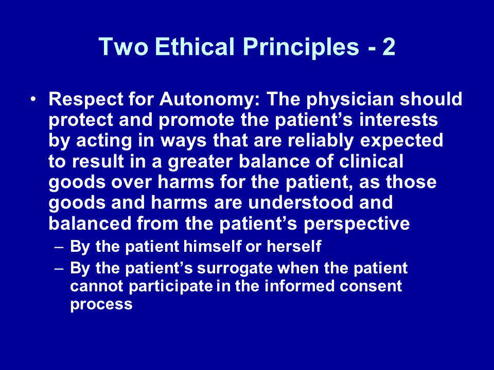 Two Ethical Principles - 2