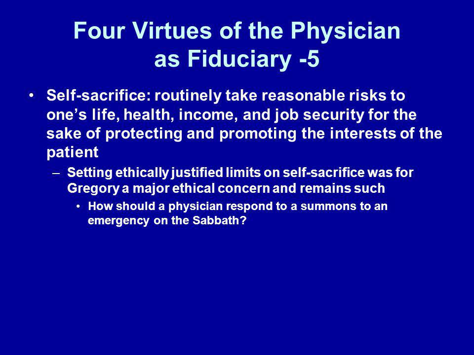 Four Virtues of the Physician as Fiduciary -5