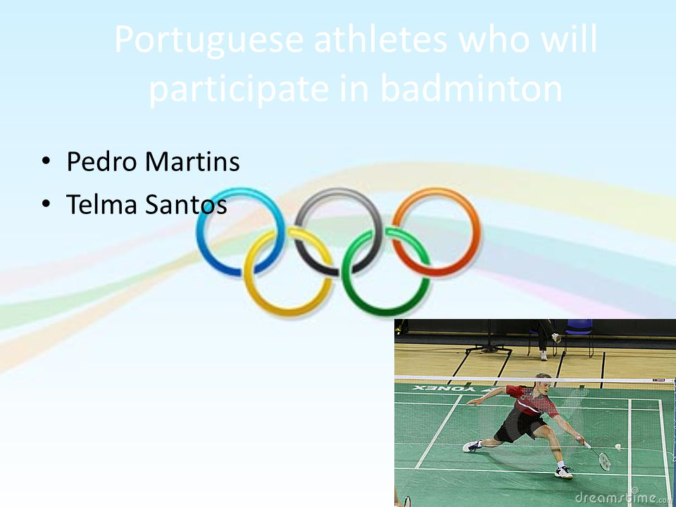 Portuguese athletes who will participate in badminton