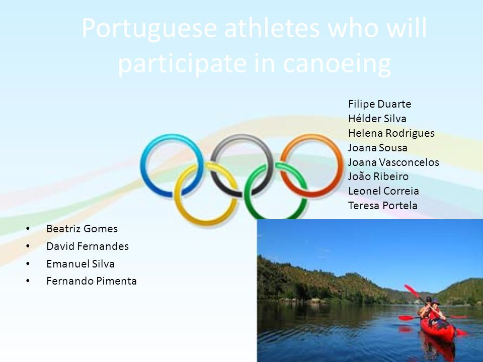 Portuguese athletes who will participate in canoeing