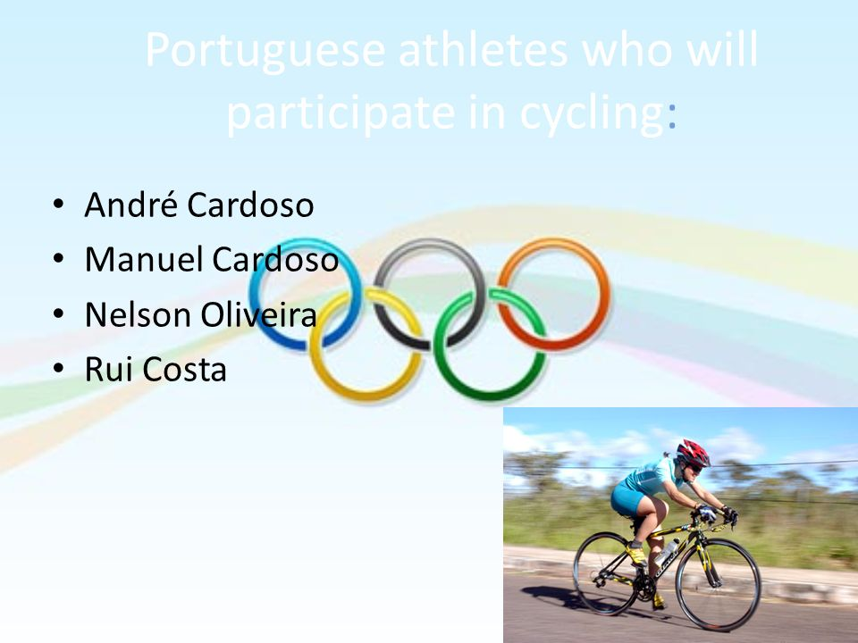Portuguese athletes who will participate in cycling: