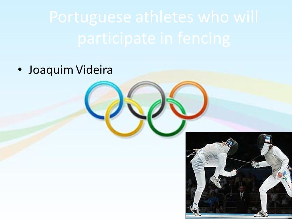 Portuguese athletes who will participate in fencing