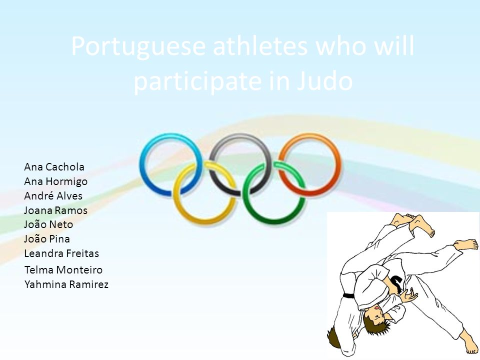 Portuguese athletes who will participate in Judo
