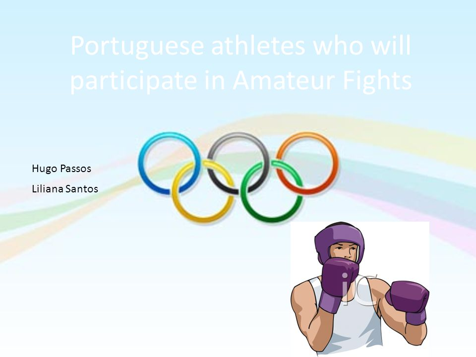 Portuguese athletes who will participate in Amateur Fights