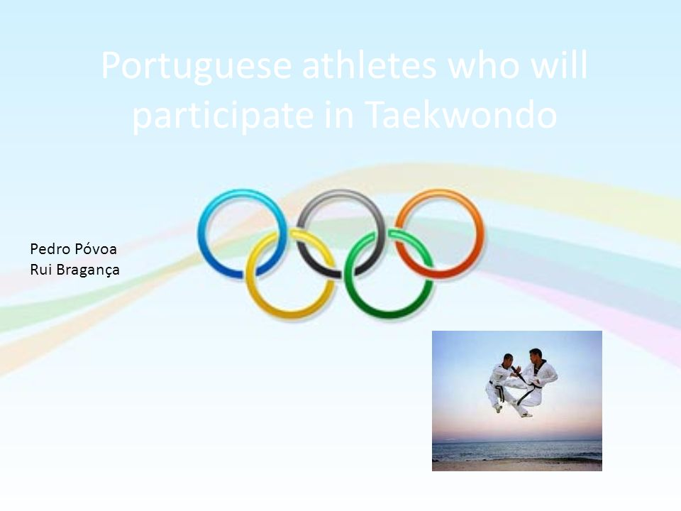 Portuguese athletes who will participate in Taekwondo