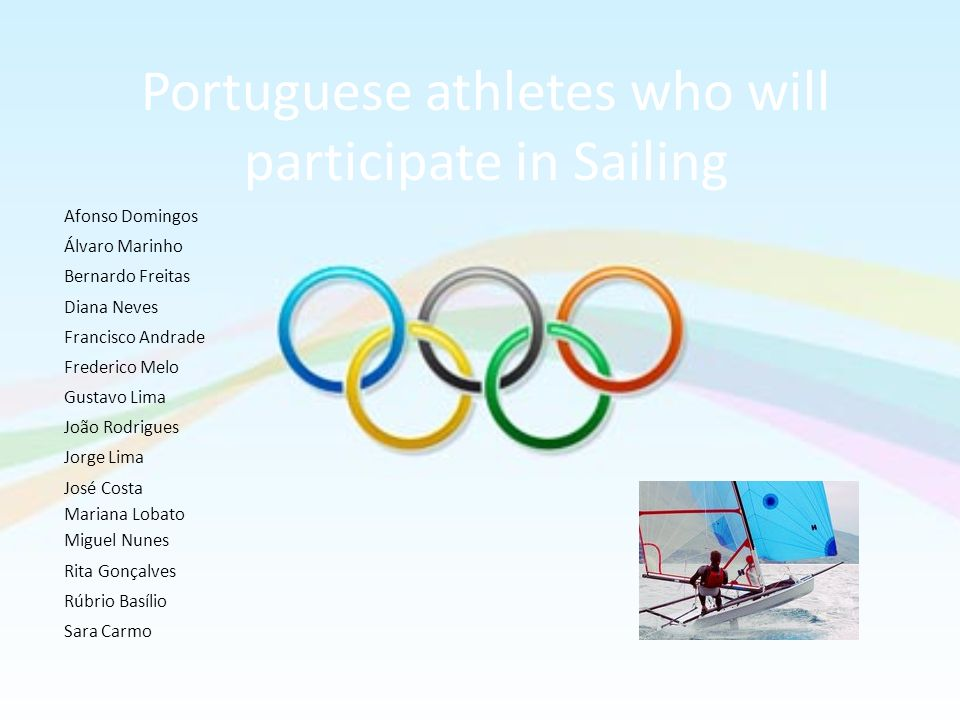 Portuguese athletes who will participate in Sailing