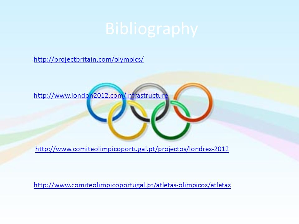 Bibliography http://projectbritain.com/olympics/