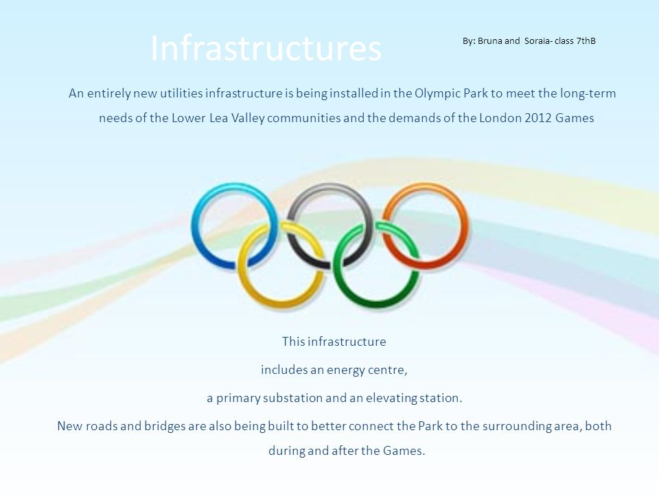Infrastructures This infrastructure includes an energy centre,