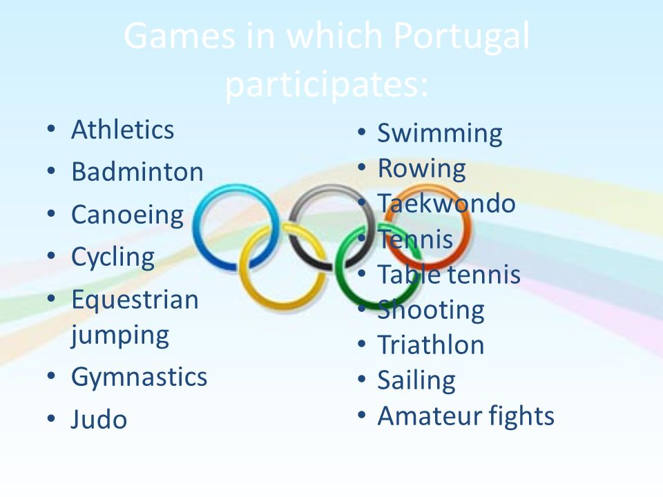 Games in which Portugal participates: