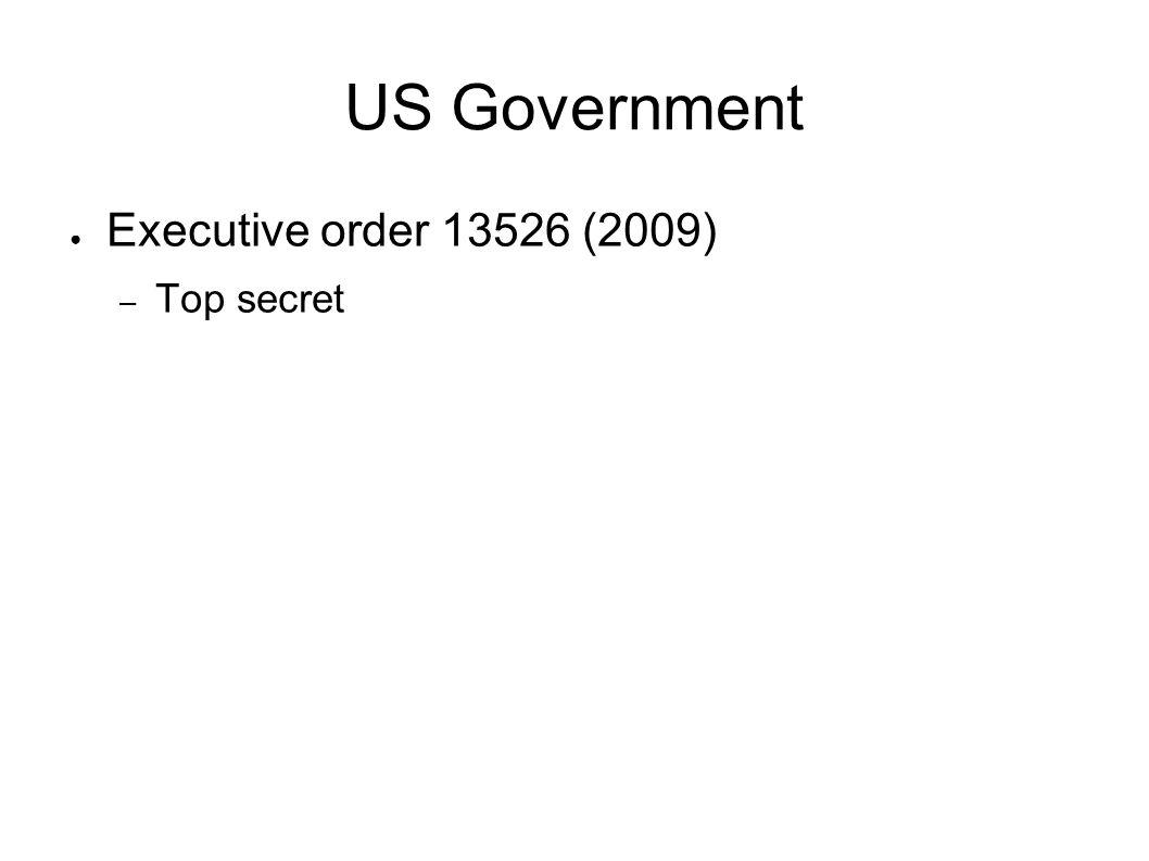 US Government Executive order 13526 (2009) Top secret