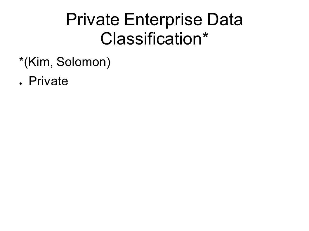 Private Enterprise Data Classification*