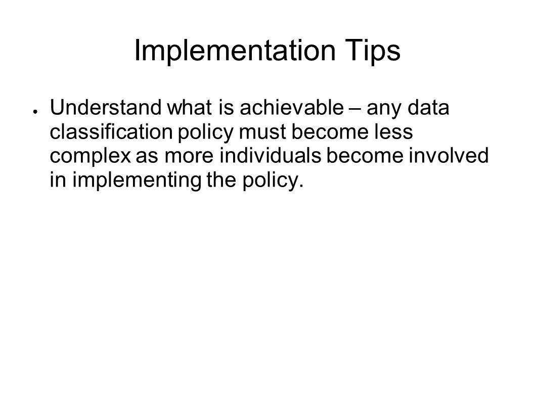 Implementation Tips