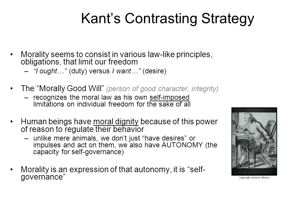 Kant's Contrasting Strategy