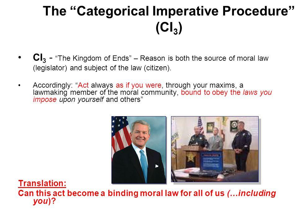 The Categorical Imperative Procedure (CI3)