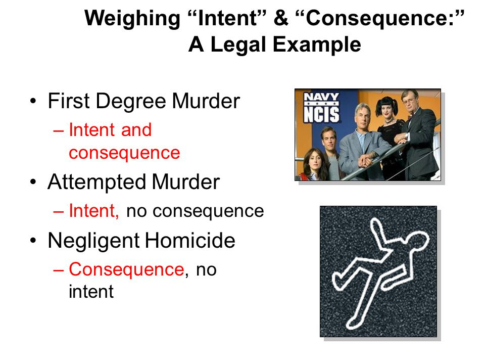 Weighing Intent & Consequence: A Legal Example