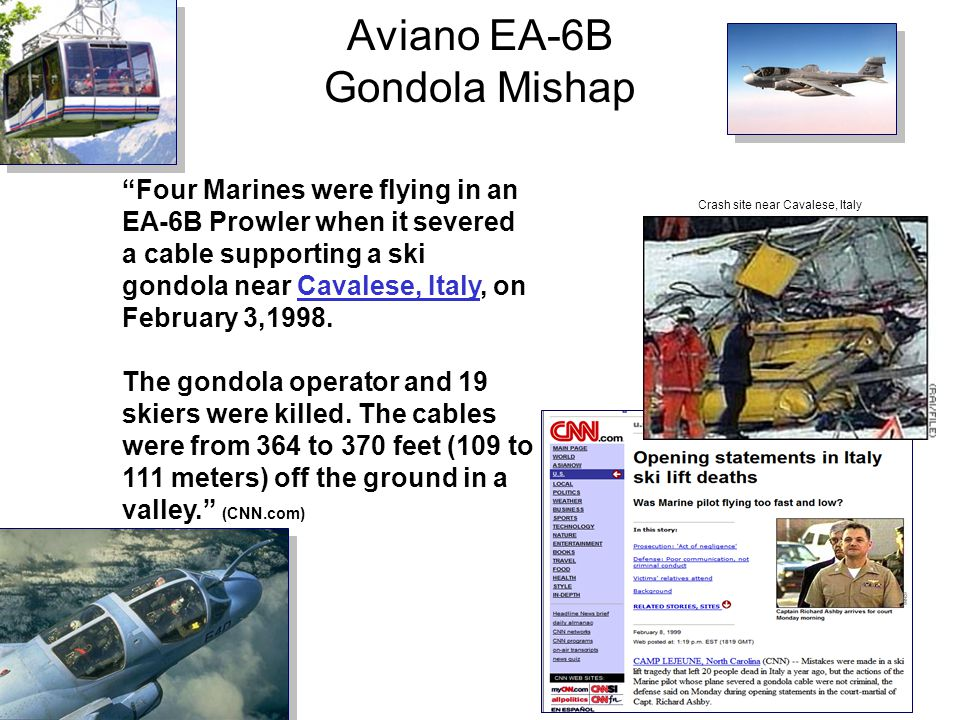 Aviano EA-6B Gondola Mishap