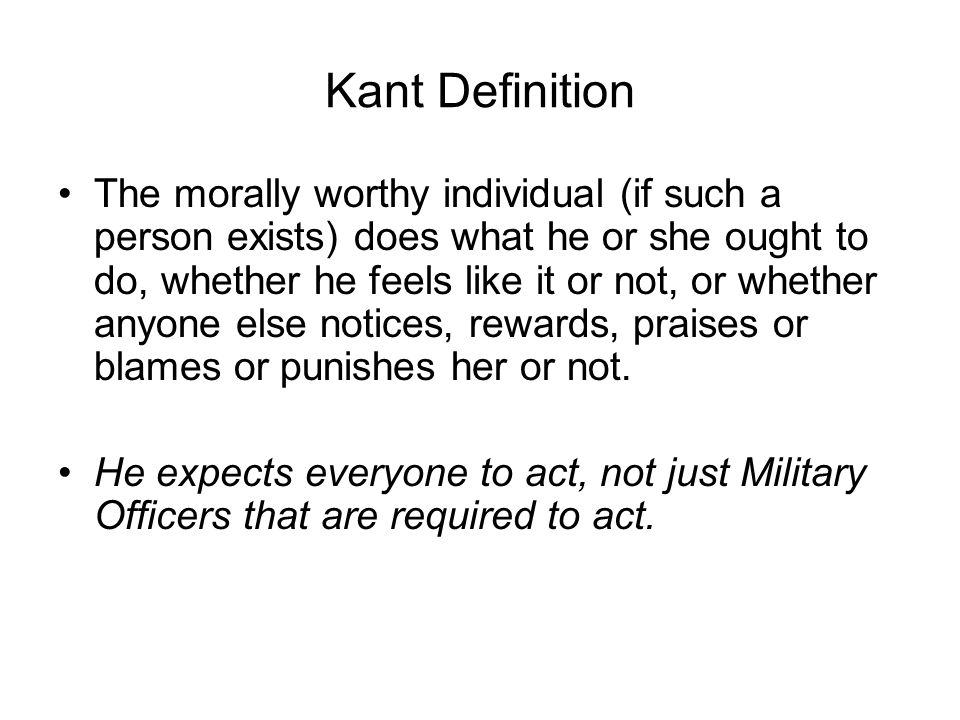 Kant Definition