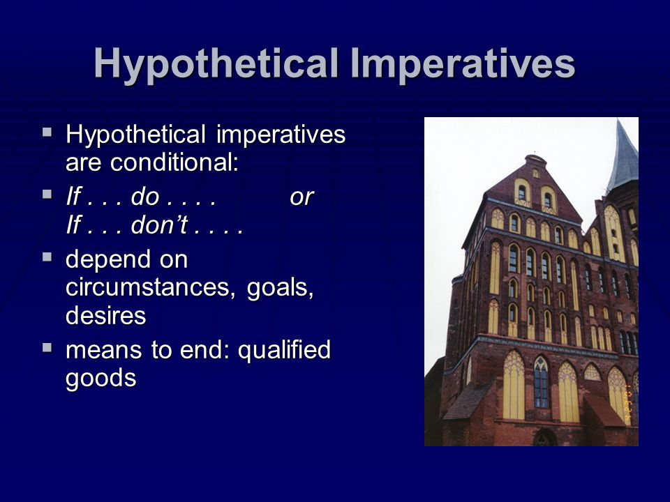 Hypothetical Imperatives