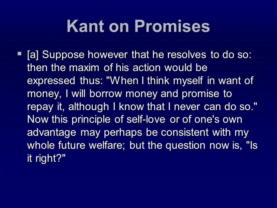 Kant on Promises