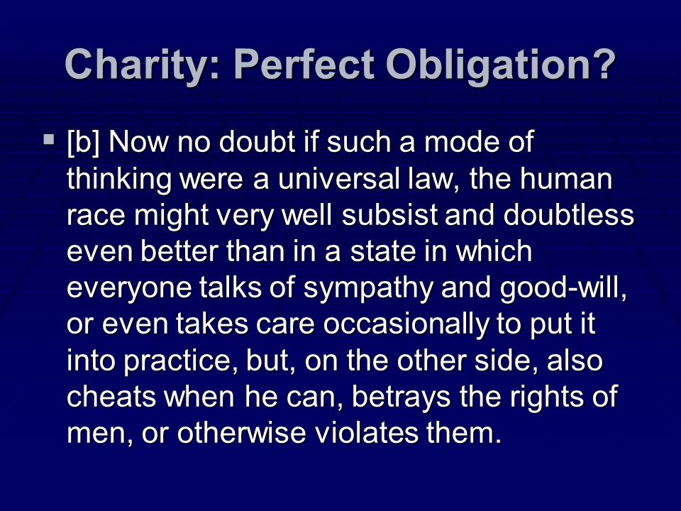 Charity: Perfect Obligation